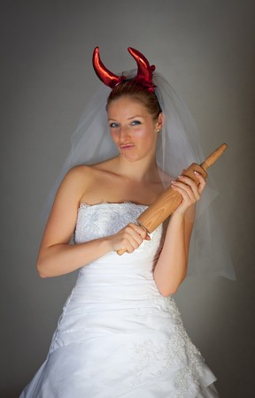 Evil bride humorous photo