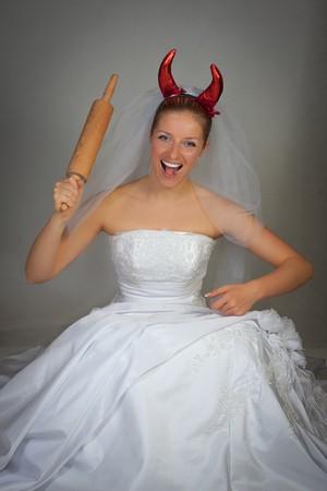 Evil bride humorous photo
