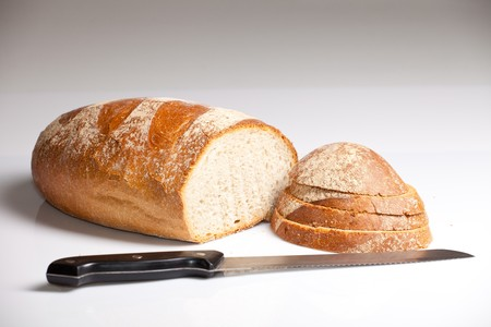 Fresh natural wheat bread photo