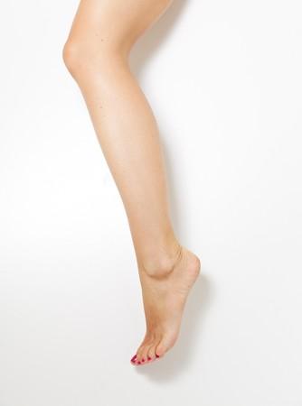 peeping: Woman leg Stock Photo