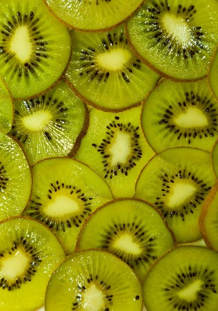Sliced kiwi fruits closeup photo