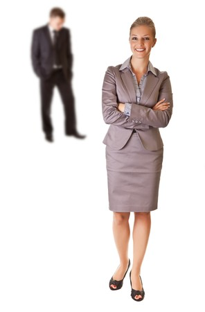 Businesswoman and businessman Stock Photo - 7779513