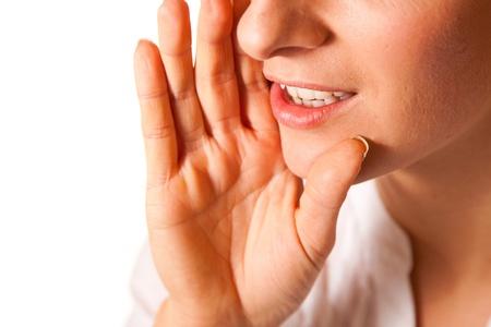 Yelling woman mouth closeup Stock Photo - 8311972