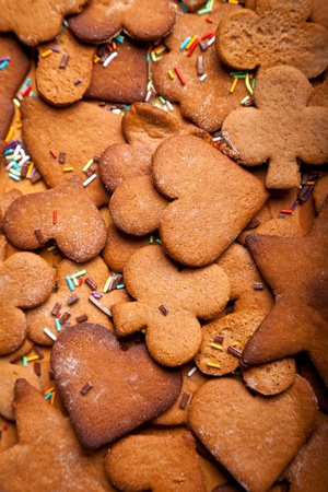 baking christmas cookies: Home baked traditional ginger honey cookies
