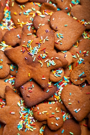 Home baked traditional ginger honey cookies photo