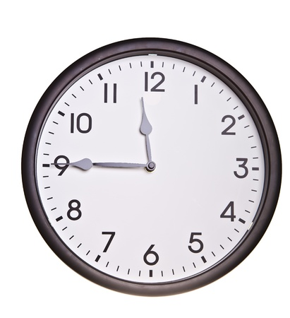 Isolated office wall clock