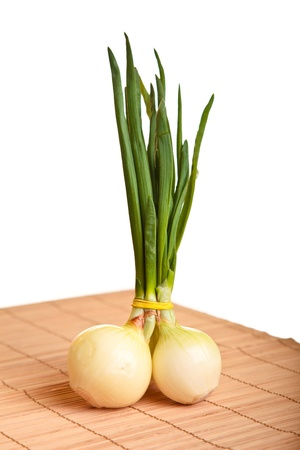 Vegetables on bamboo photo