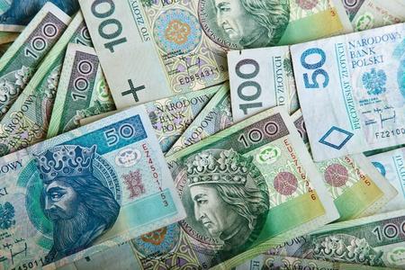 Polish zloty paper money photo