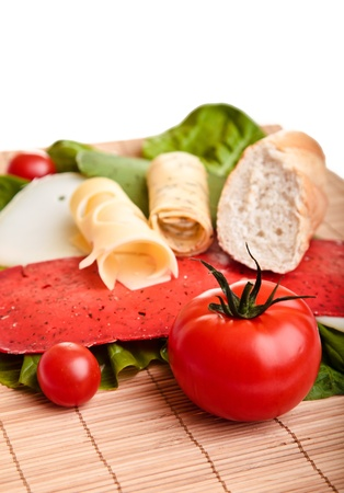 Different sandwiches with vegetables and cheese isolated Stock Photo - 8968449