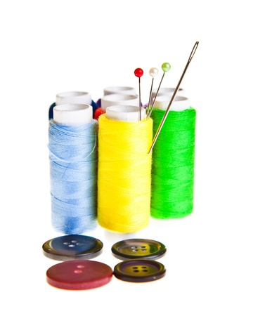 Colorful sewing threads Stock Photo - 9119734