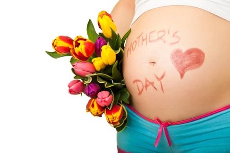 Vientre de la mujer embarazada Foto de archivo - 9317034