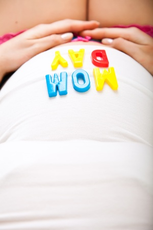 Pregnant woman belly photo