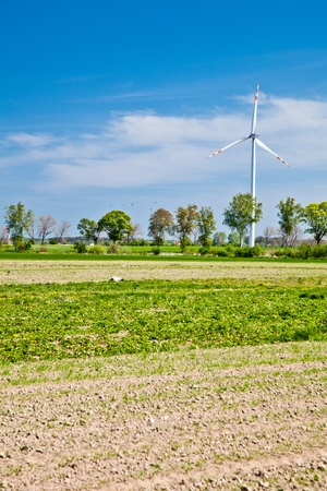 Wind powerplants countryside Stock Photo - 9566048