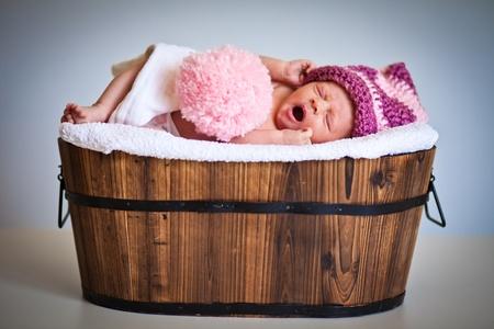 blankets: Portrait of a newborn caucasian girl