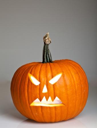 Halloween scary jack'o'lantern pumpkin faces Stock Photo - 10547621