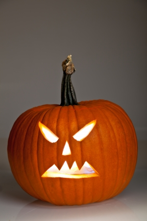 Halloween scary jack'o'lantern pumpkin faces Stock Photo - 10547633
