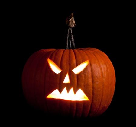 circuses: Halloween scary jackolantern pumpkin faces Stock Photo