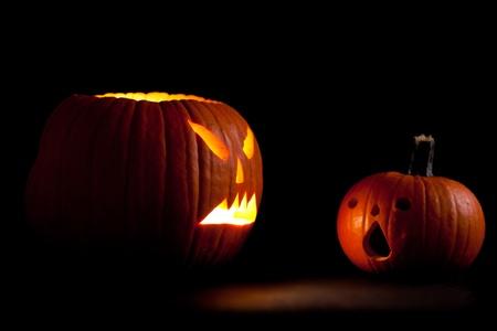 Halloween scary jack'o'lantern pumpkin faces Stock Photo - 10546199