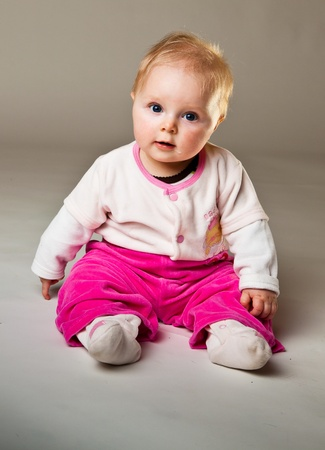 Cute infant girl photo