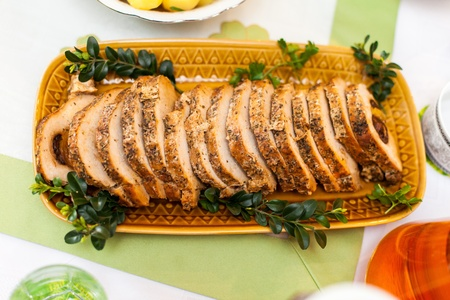 Deliciuously looking food on a decorated table Stock Photo - 13141880
