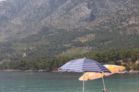 brac: Brac Island, Croatia  Beach Umbrella