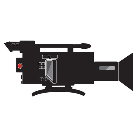 shoulder buttons: shoulder mounted video camera vector