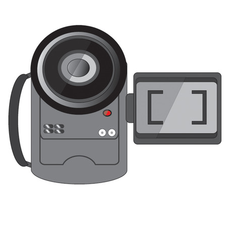 camcorder: handheld camcorder with flip out screen