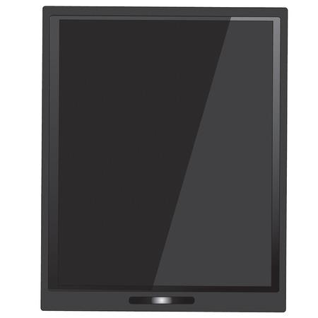 electronic organiser: black Tablet computer vector Illustration