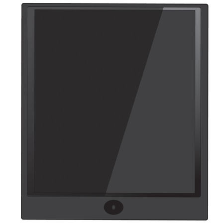 electronic organiser: black Tablet computer vector with round button