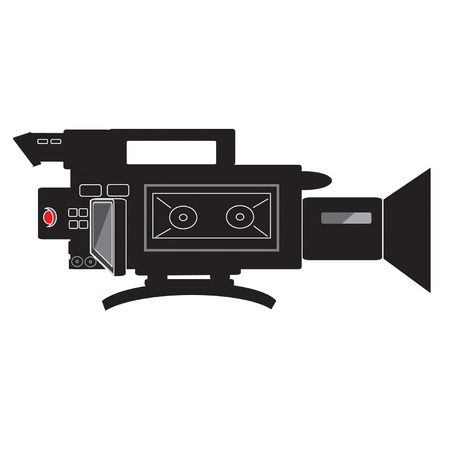 shoulder buttons: shoulder mounted video camera vector with tape