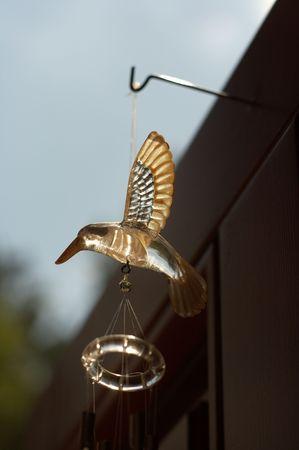 ruise�or: Nightingale timbre de la puerta de vidrio de aves