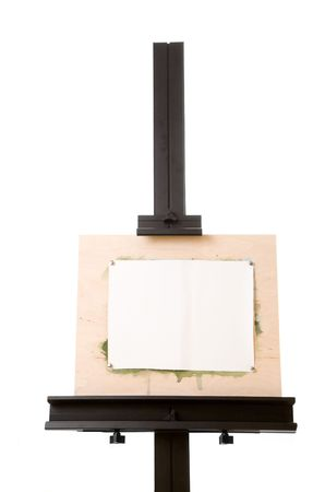 Aluminum painter's easel isolated on white Stock Photo - 5321124