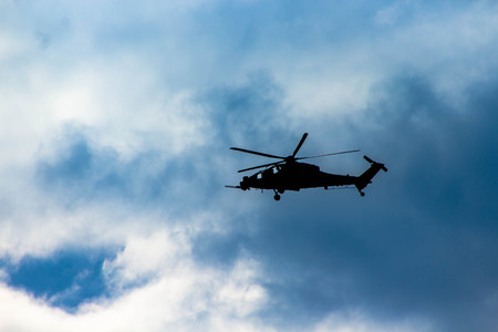 Attack helicopter in slovenian airspace.