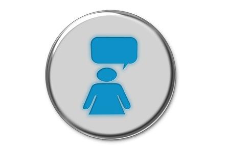 Modern communication web button Stock Photo