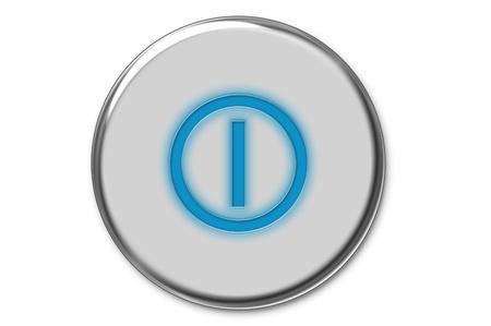 blue send: Modern power button