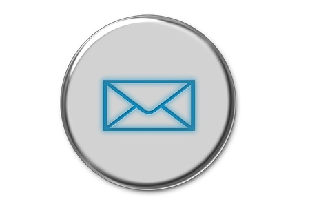 Modern e-mail internet button photo