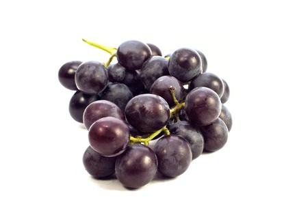 Fresh blue grape fruit on white background