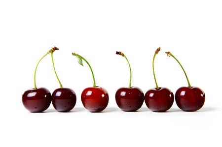 Berries ripe cherry on a white isolated background