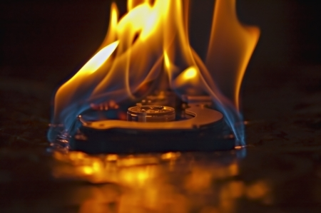 Hard disk drive burning
