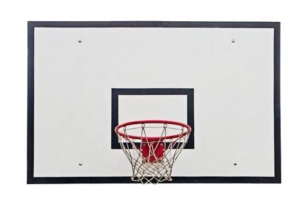 baloncesto: Aro de baloncesto en el fondo blanco