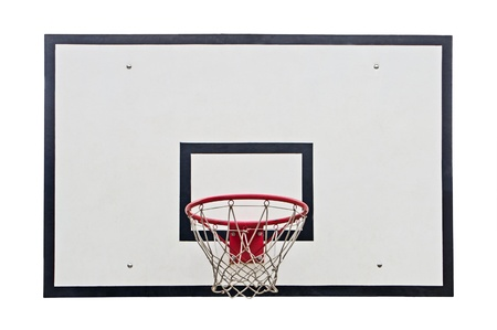 hoops: Basketball hoop on white background