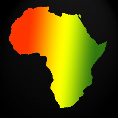Africa map outline Stock Photo - 15439227