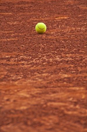 Tennis ball on the slag