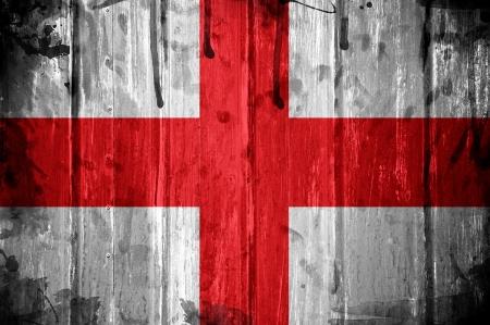 England flag overlaid with grunge texture