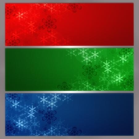 desing: Snowflake banner for web desing Stock Photo