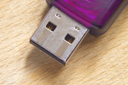 Flash drive for save your data  Macro  photo