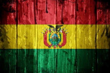 Flag of Bolivia, image is overlaid with grunge texture photo