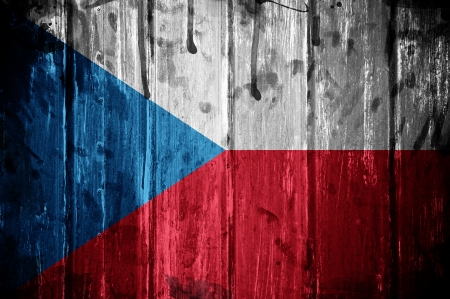 Flag of Czech Republic, image is overlaid with grunge texture Stock Photo - 16676496