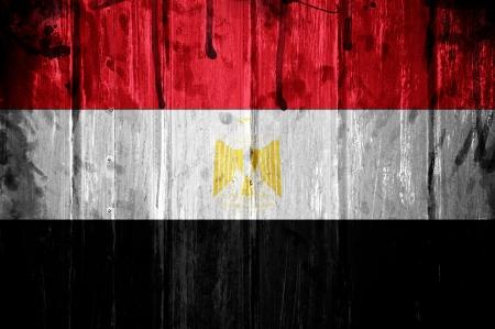 Drapeau de l'Egypte, l'image est superposée avec la texture grunge Banque d'images