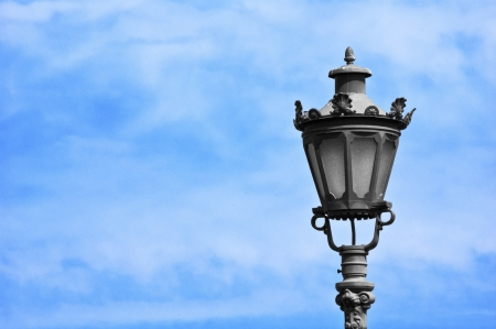 Street light against a blue sky background Stock Photo - 16676489